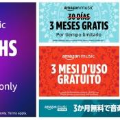 Amazon Music holiday banner ads